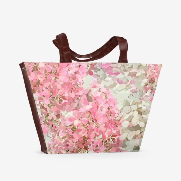 Пляжная сумка «pink hydrangea»
