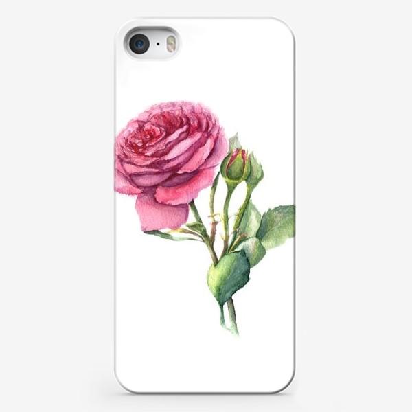 Чехол iPhone «Роза с бутонами»