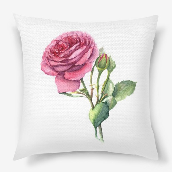 Подушка «Роза с бутонами»