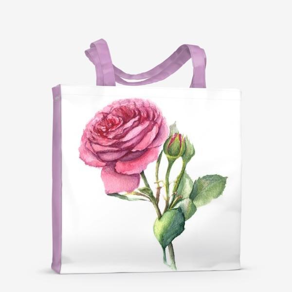 Сумка-шоппер «Роза с бутонами»