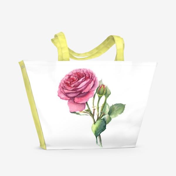 Пляжная сумка «Роза с бутонами»