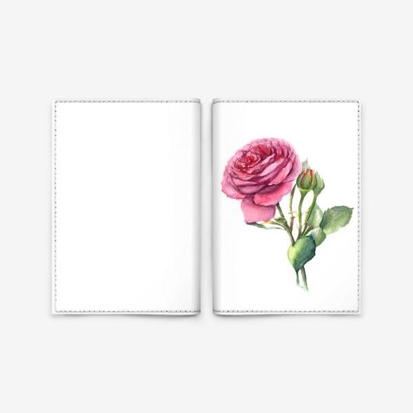 Обложка для паспорта «Роза с бутонами»