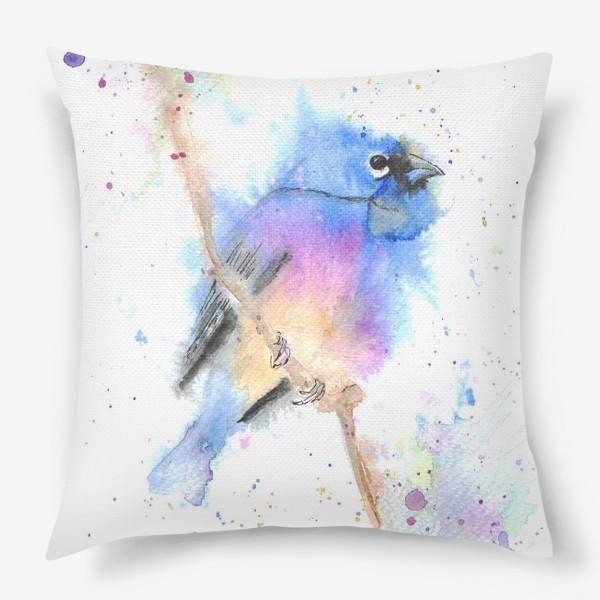 Подушка «Птица на ветке»