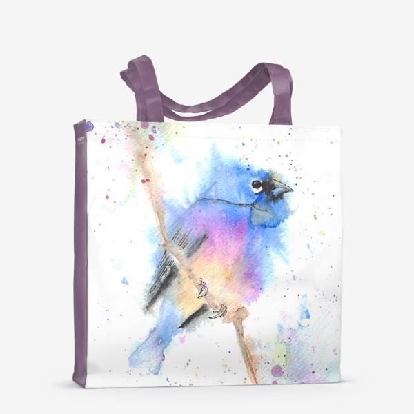Сумка-шоппер «Птица на ветке»