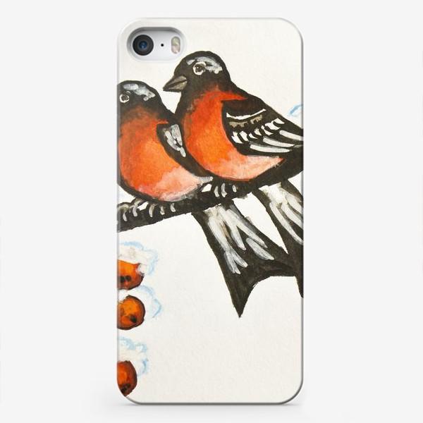 Чехол iPhone «Два снегиря»