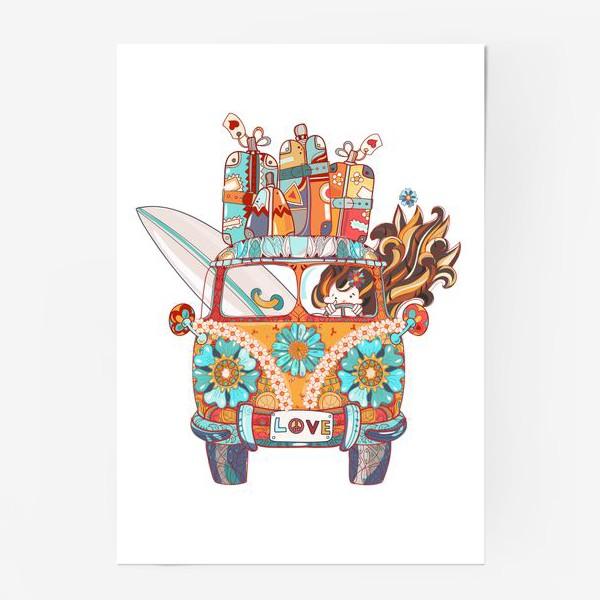 Постер «Бохо Серф Автобус»