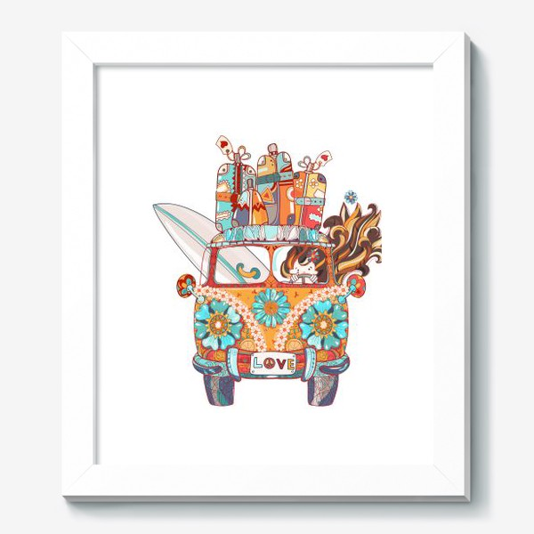 Картина «Бохо Серф Автобус»