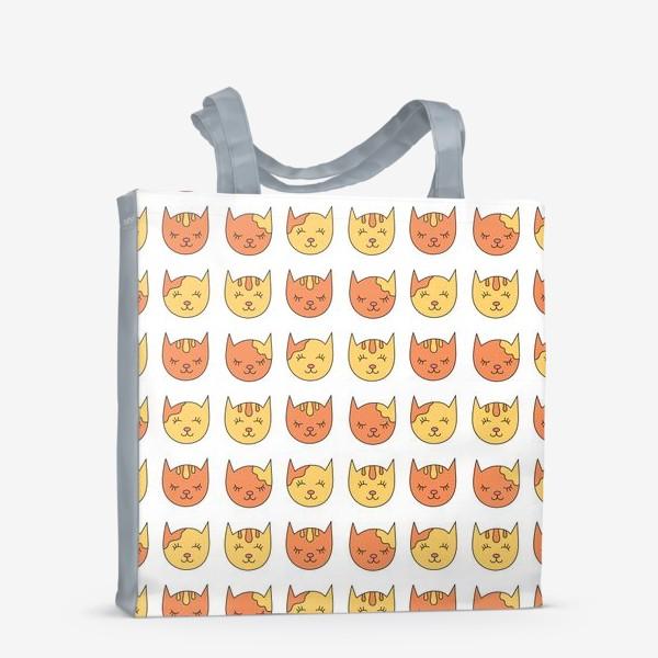 Сумка-шоппер «Сонные рыжие коты»