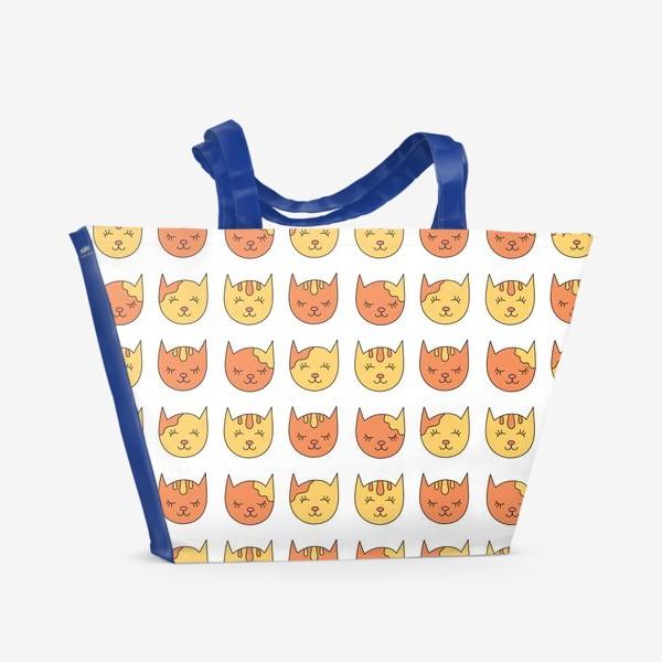 Пляжная сумка «Сонные рыжие коты»