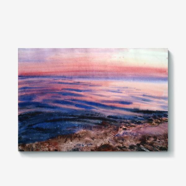 Холст «Вечернее море»