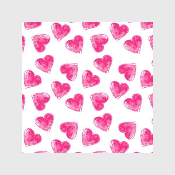 Шторы «розовые сердечки»