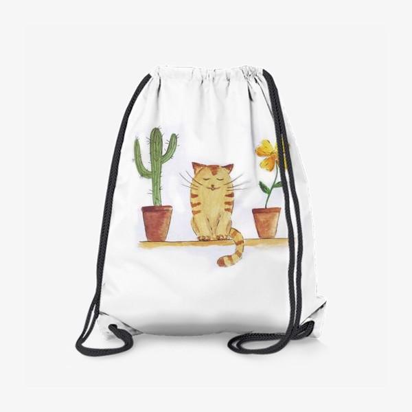 Рюкзак «кот и кактус»