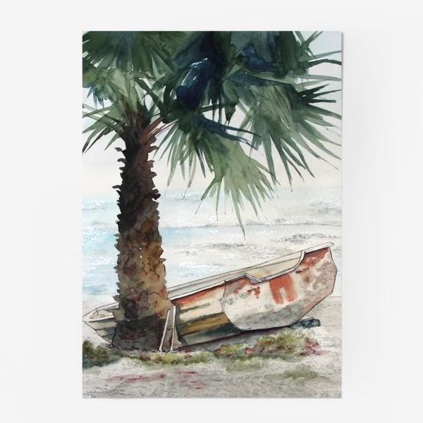 Постер «Одинокая лодка»