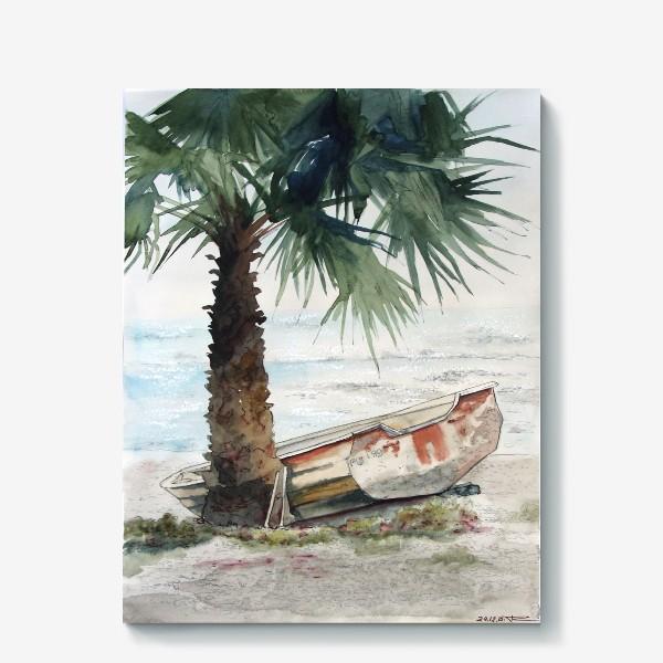 Холст «Одинокая лодка»