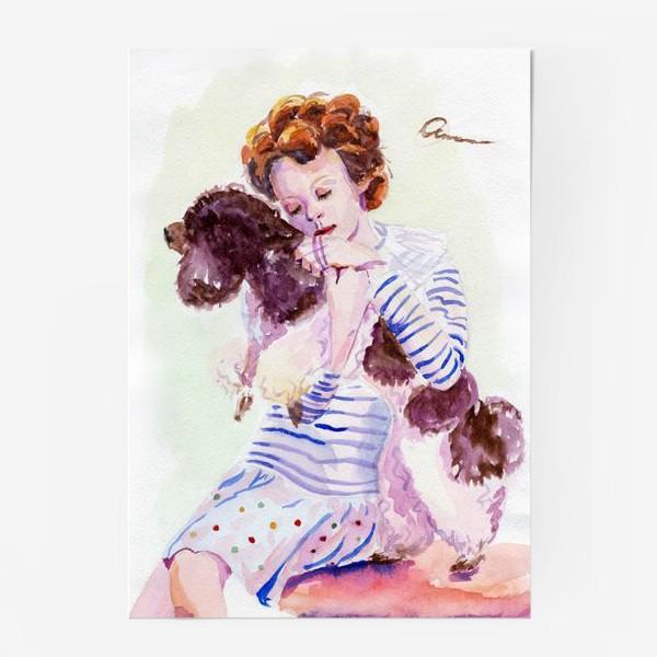 Постер «Девочка с пуделем»