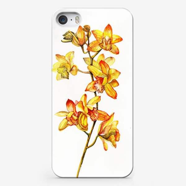 Чехол iPhone «желтая орхидея»