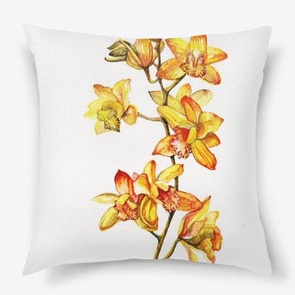 Подушка «желтая орхидея»