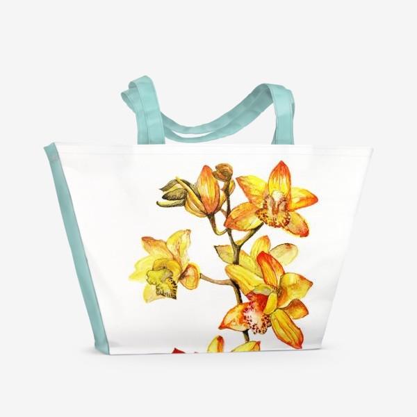 Пляжная сумка «желтая орхидея»