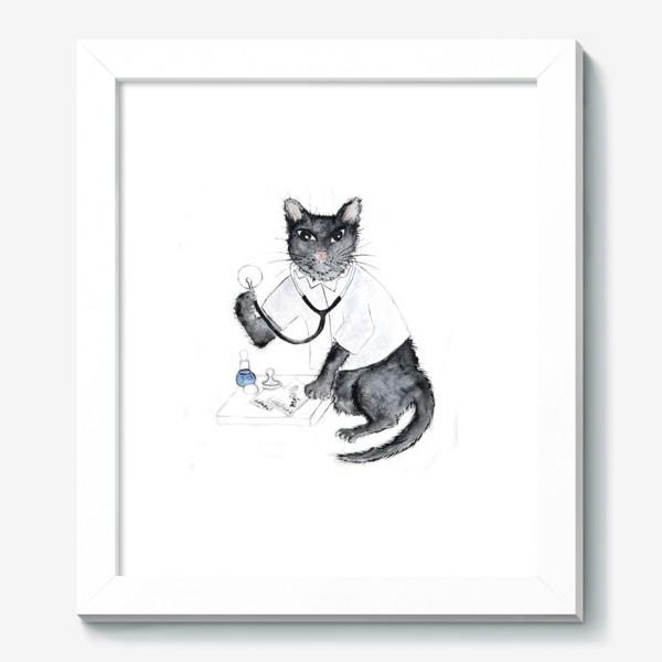 Картина «Котики лечат. Врач-терапевт»