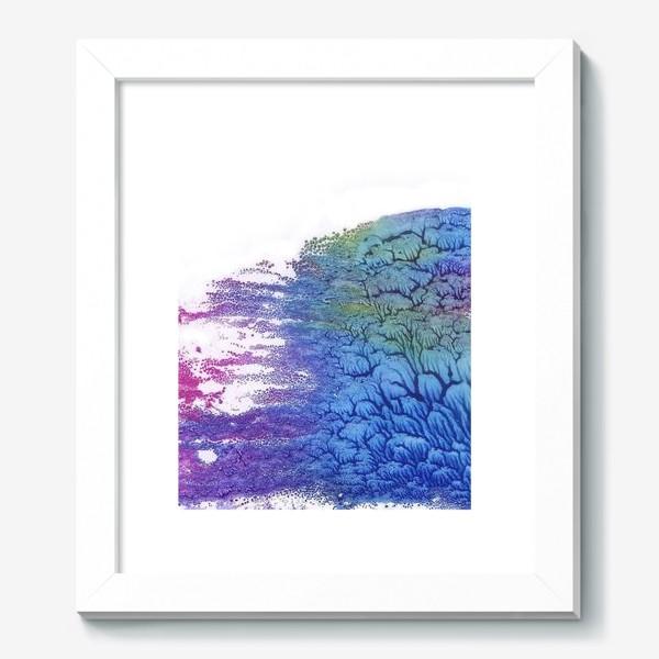 Картина «Акварельная абстракция в розово-синих цветах»