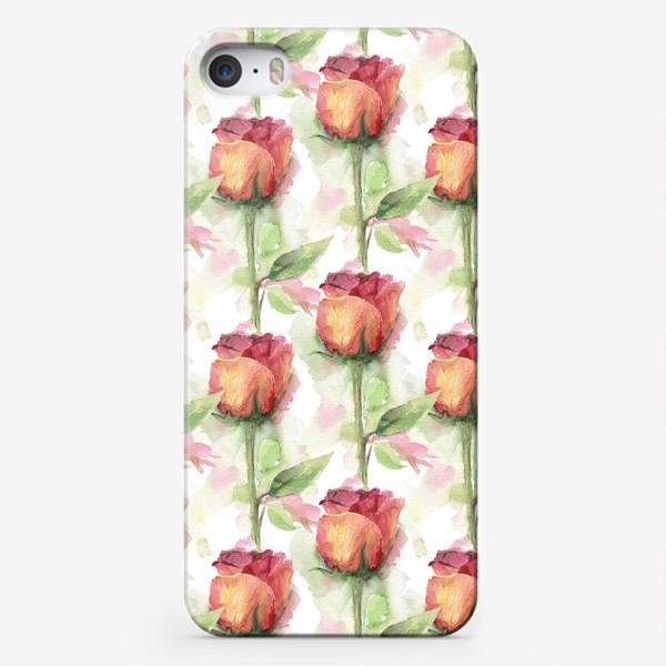 Чехол iPhone «Розовые розы»