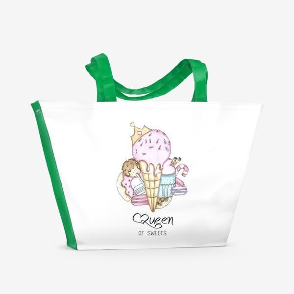 Пляжная сумка «Королева сладостей »