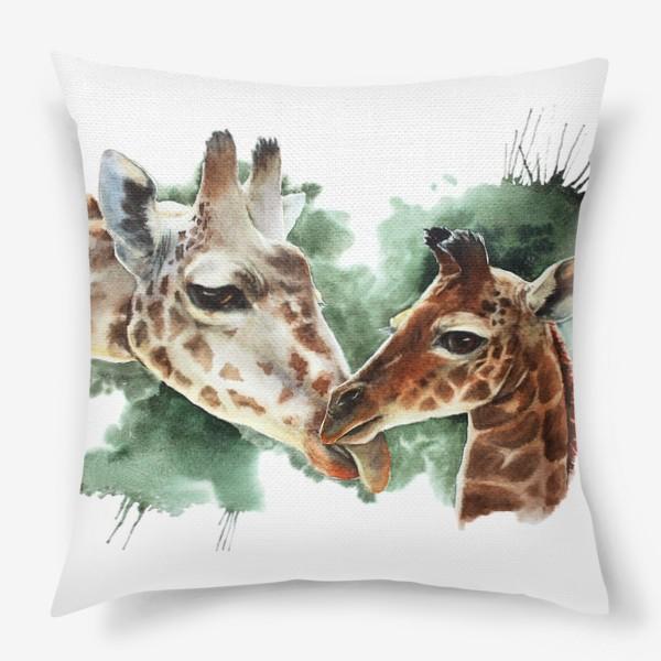 Подушка «мама-жираф с детенышем»
