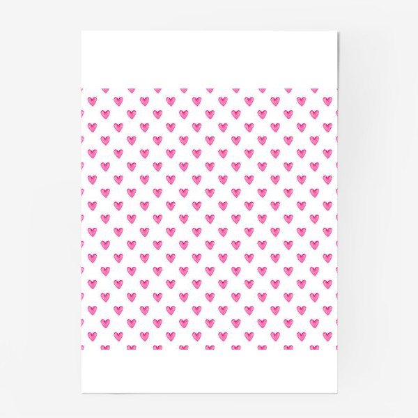 Постер «Сердечки акварель»