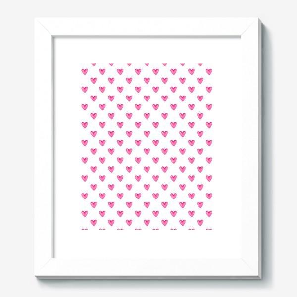 Картина «Сердечки акварель»