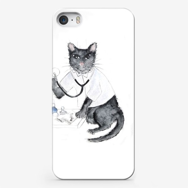 Чехол iPhone «Котики лечат. Врач-терапевт»