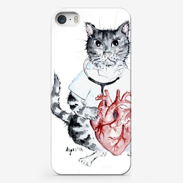 Чехол iPhone «Котики лечат. Врач Кардиолог»