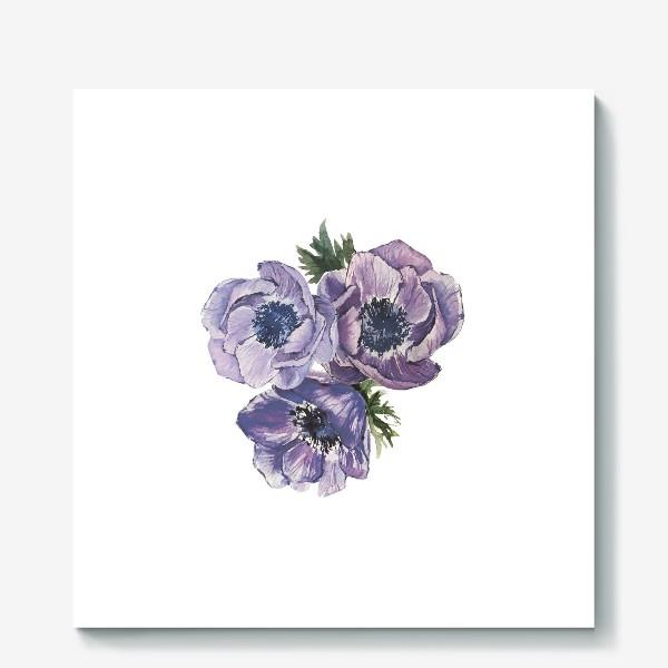 Холст «цветы Анемоны»