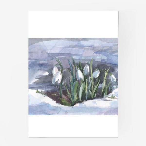 Постер «подснежники»
