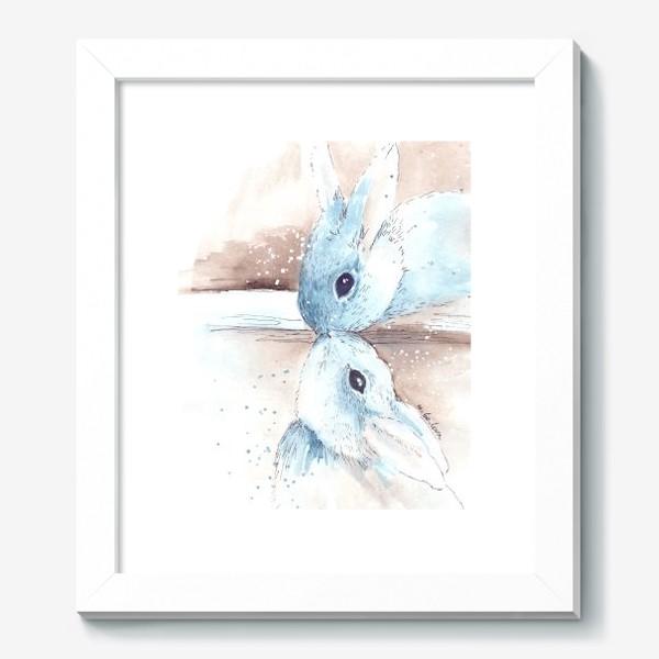 Картина «кролики, поцелуй»