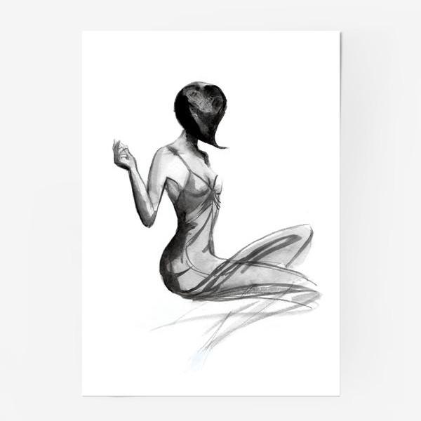 Постер «Девушка в стиле ретро»