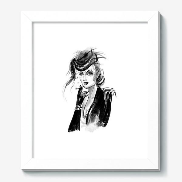 Картина «Девушка в шляпке с вуалью»