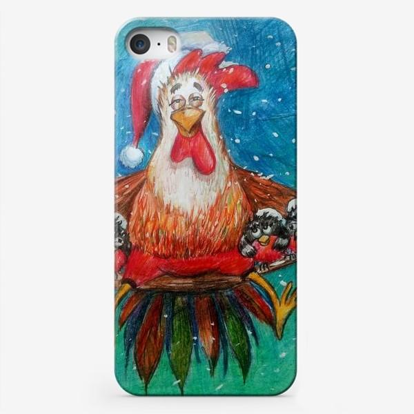 Чехол iPhone «Добродушный петух»