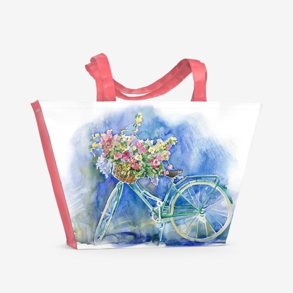 Пляжная сумка «Велосипед»
