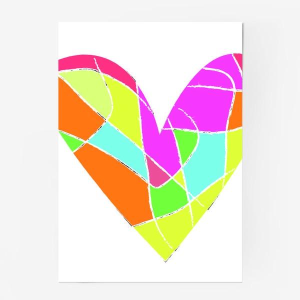 Постер «Мозаичное сердце»