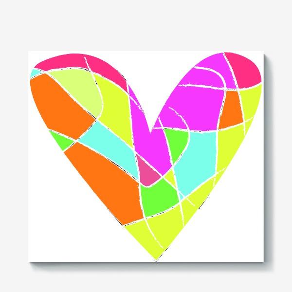 Холст «Мозаичное сердце»