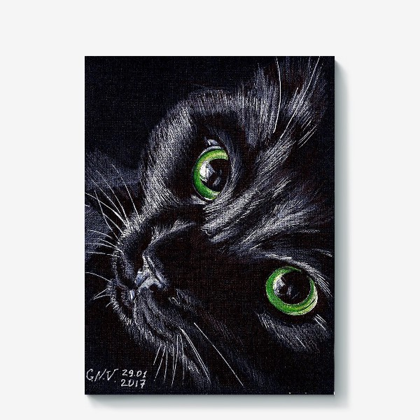 Холст «Черный кот»