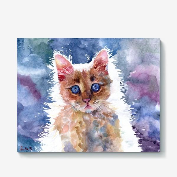 Холст «Рыжий котенок»