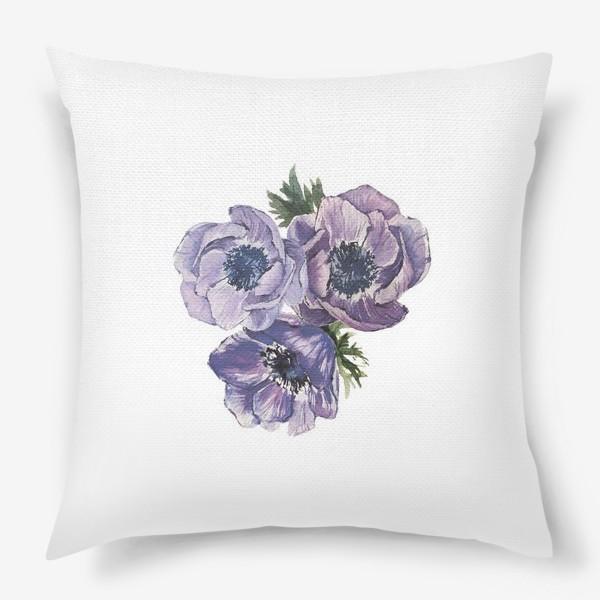 Подушка «цветы Анемоны»