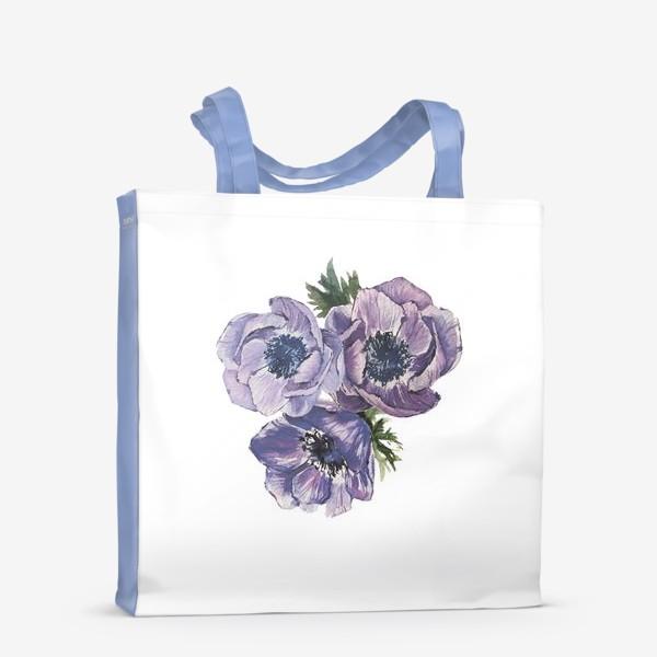 Сумка-шоппер «цветы Анемоны»