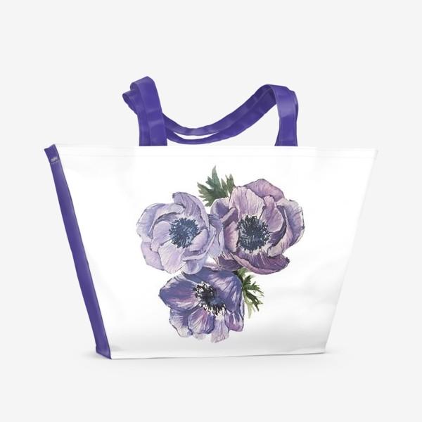 Пляжная сумка «цветы Анемоны»