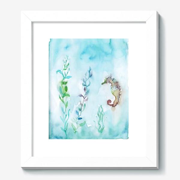 Картина «Морской конек на глубине»