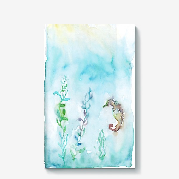 Холст «Морской конек на глубине»