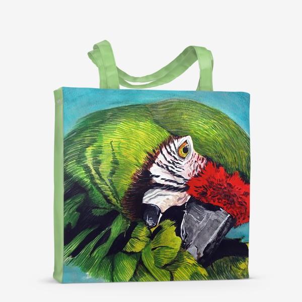 Сумка-шоппер «Зеленый попугай»