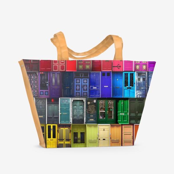 Пляжная сумка «Двери из разных стран»