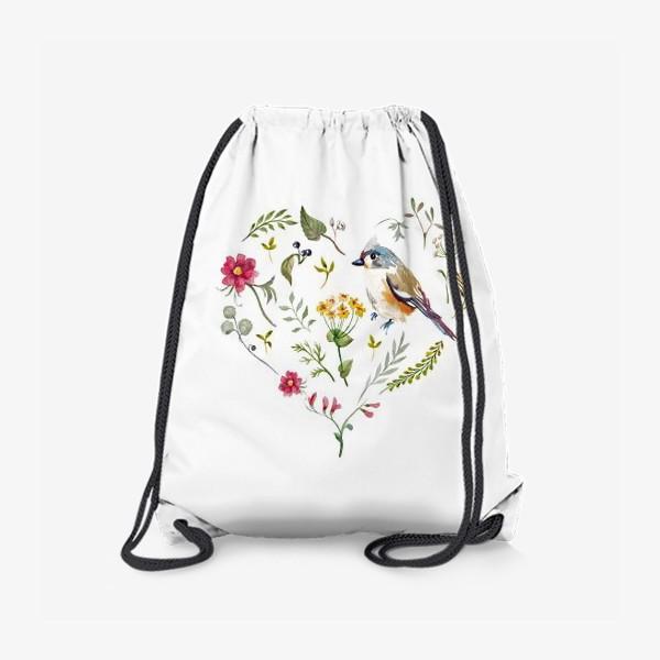 Рюкзак «Птица любви в сердце»